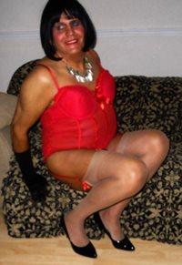 sandra in stockings.