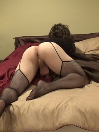 Let me spread my legs and show you my pussy... maybe a nice deep inseminati...