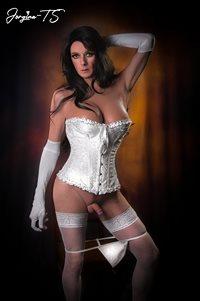 Jorgina white corset