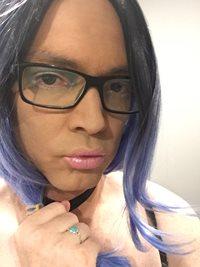 Blue/Black wig