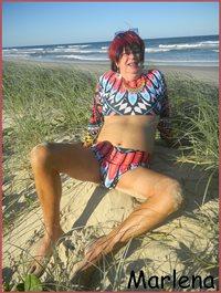Enjoying myself down on the Beach