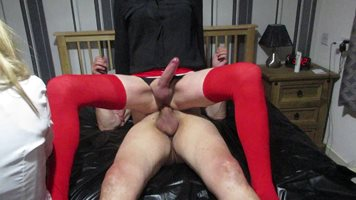 Debbie the slut sitting on a nice 8 inch cock
