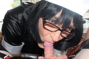 In my French Maid uniform sucking yet another stiff cock... now who's next?