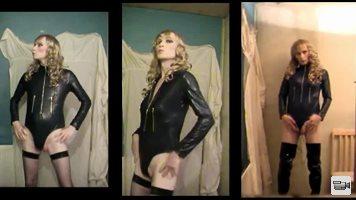 Posing in bodysuit